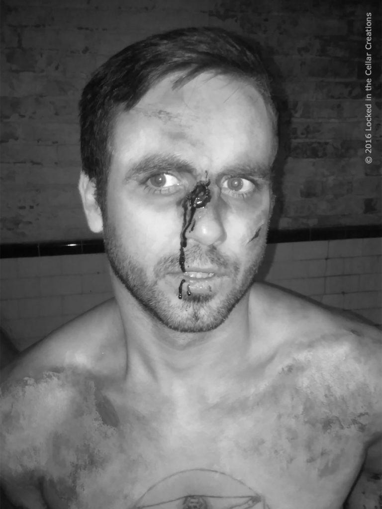Snuff film actor with broken nose
