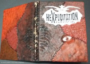Horror Book: Front and Back Cover with Spine