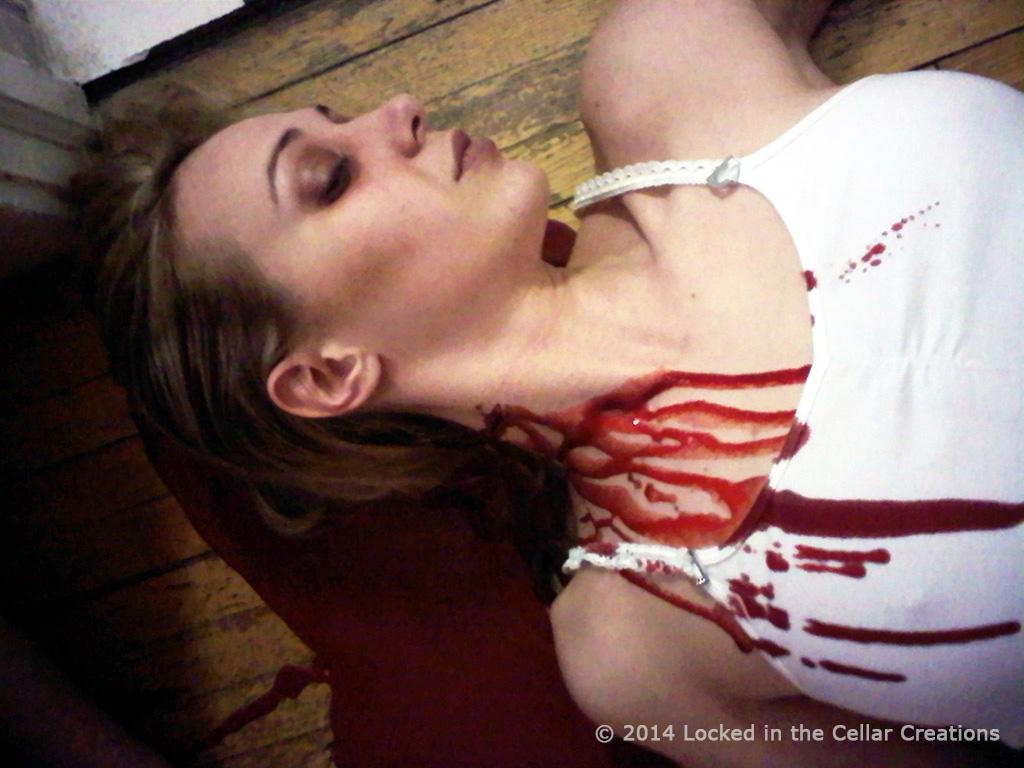 "Dead Girl + Fake Blood Puddle, Movie FX ""A Dark Matter"""