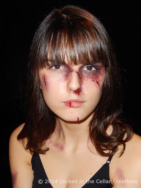 Rose Hunter Domestic Abuse SFX Make-up