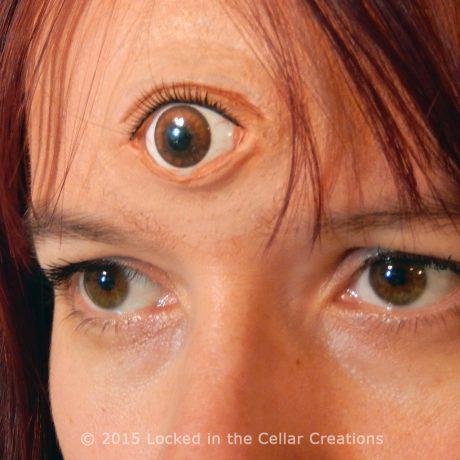 Third Eye Prosthetic With Eyelash