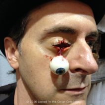 Freaky Dangling Eyeball Injury Prosthetic