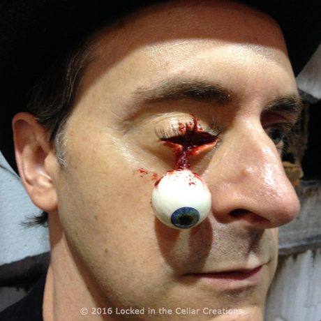 Freaky Dangling Eyeball Injury Prosthetic