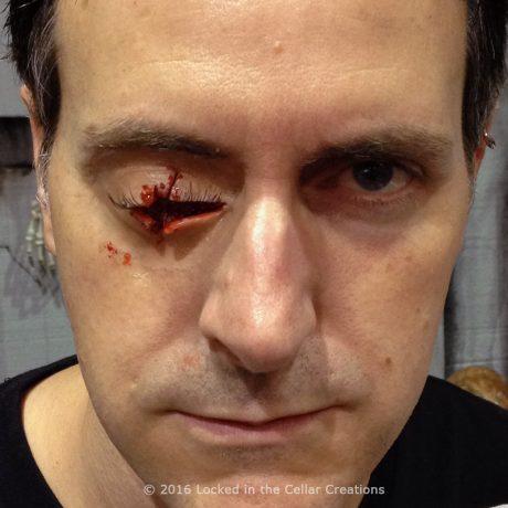 Gruesome Missing Eye Prosthetic