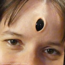 Vertical Demon Black Third Eye Prosthetic, Wide Open gives a great Alien or Demonic look to your cosplay!