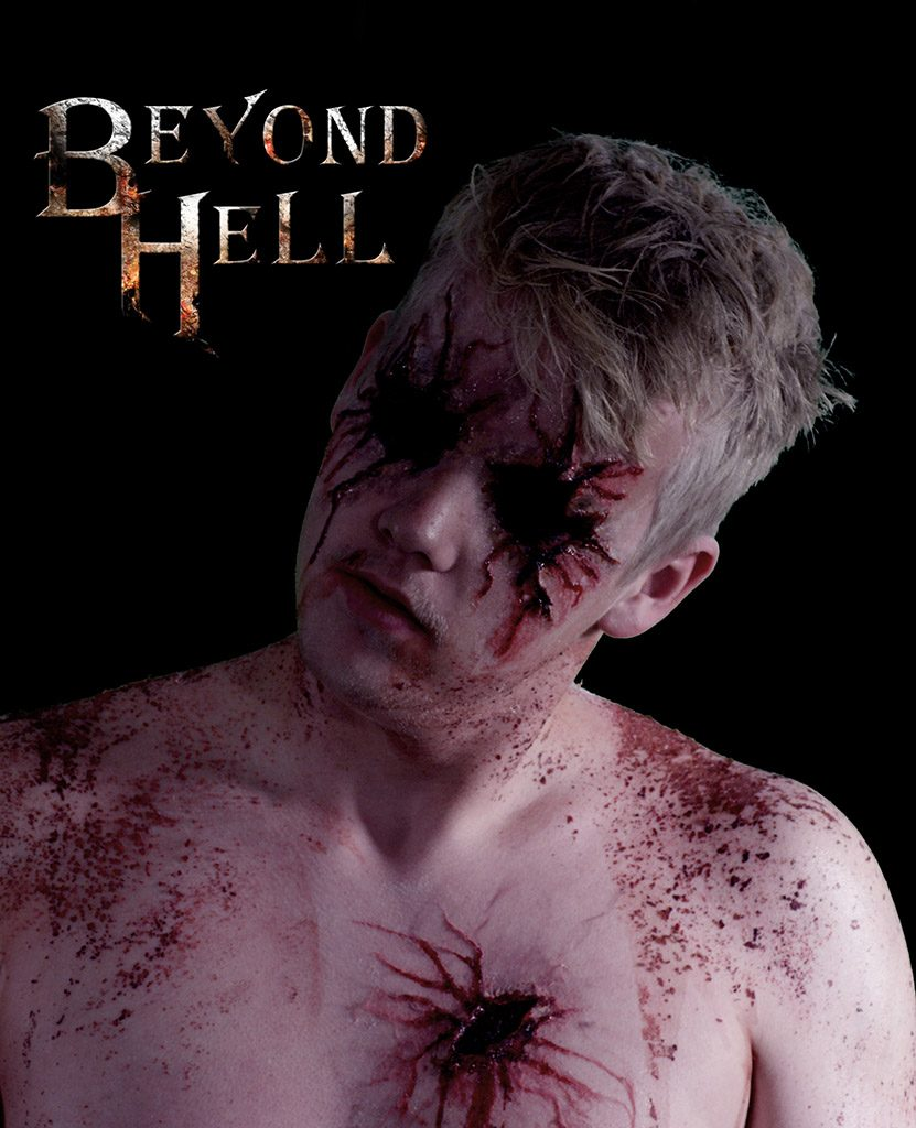Male demon with gauged out eyes - for Beyond Hell