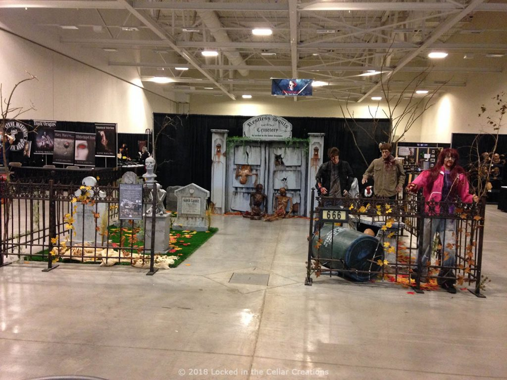 Wide shot of the 20x20 Cemetery display at Frightmare in the Falls 2018