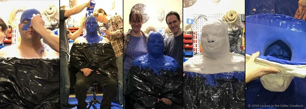 The complete process of creating a head cast in Body Double silicone.