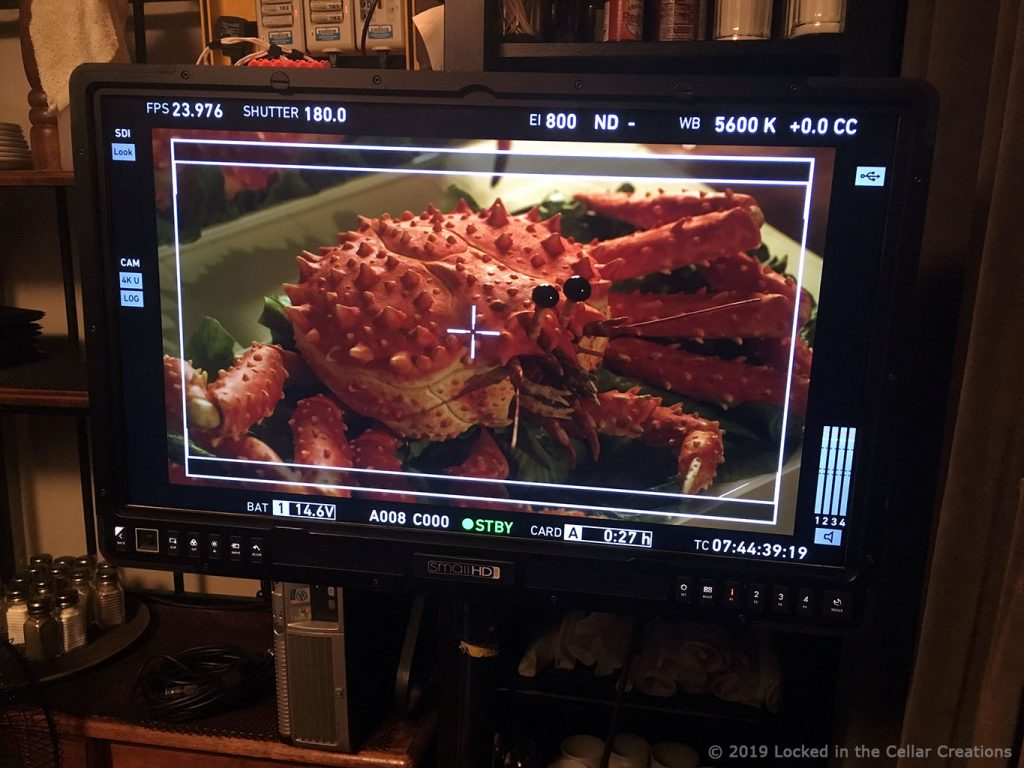 King Crab Chuck on a monitor