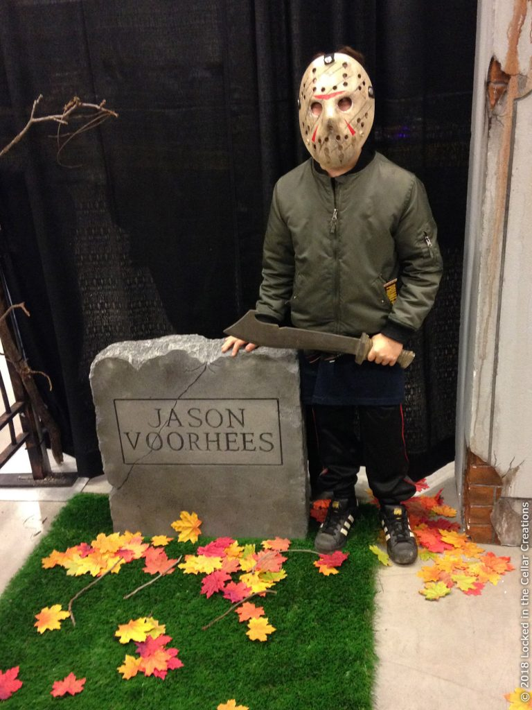 Custom Jason Voorhees tombstone was added to the Cemetery for 2018 Frightmare in the Falls