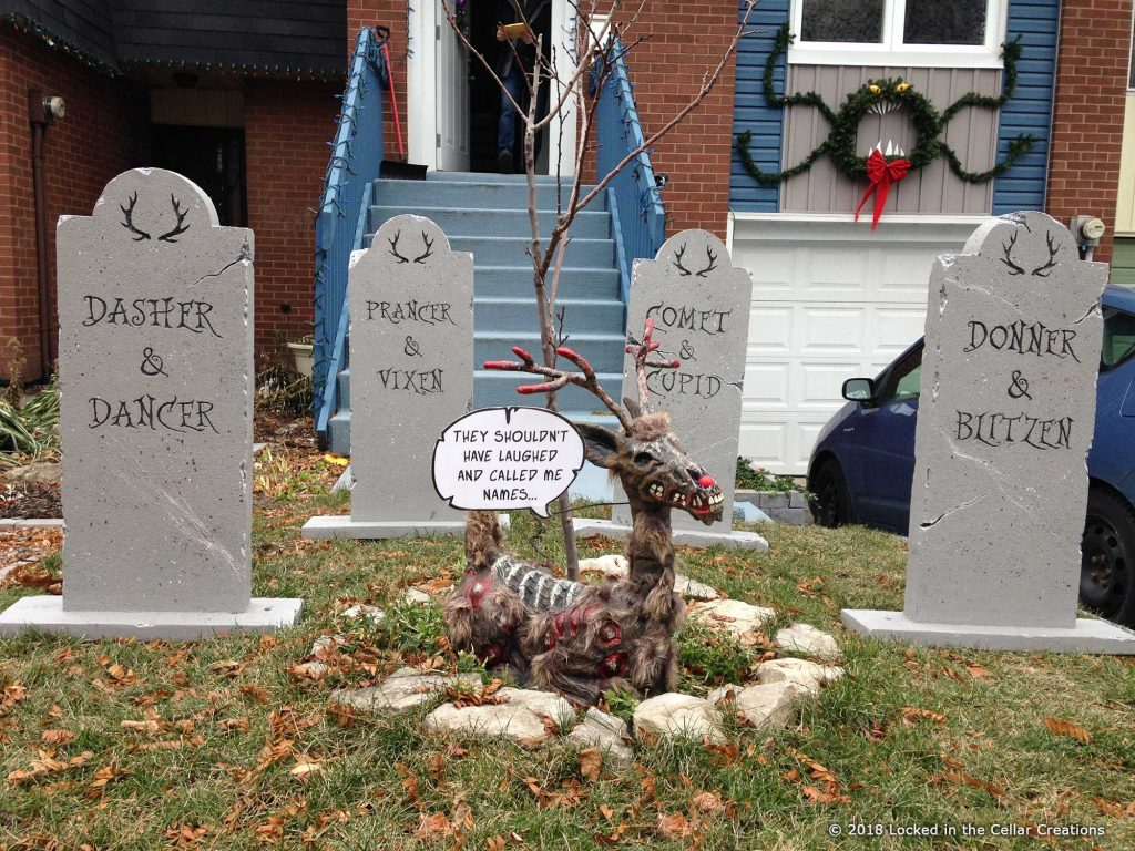 Zombie Rudolph gets back at the reindeer that laughed and called him names.