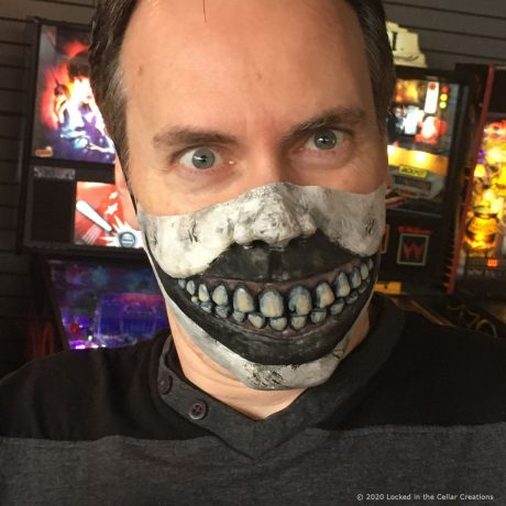The Creepy Clown Face cover has a freakish mouth with realistic glossy teeth. The spaces between the teeth allow for air circulation.